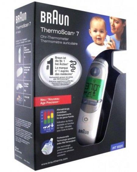 Braun Thermoscan Termómetro Oido infrarrojos IRT6520