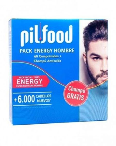 PILFOOD PACK ENERGY HOMBRE 60 COMPRIMIDOS + CHAMPU ANTICAIDA 200ML