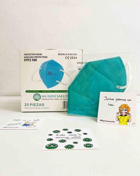 Mascarillas FFP2 NR Mundo Salud Azul 25 U