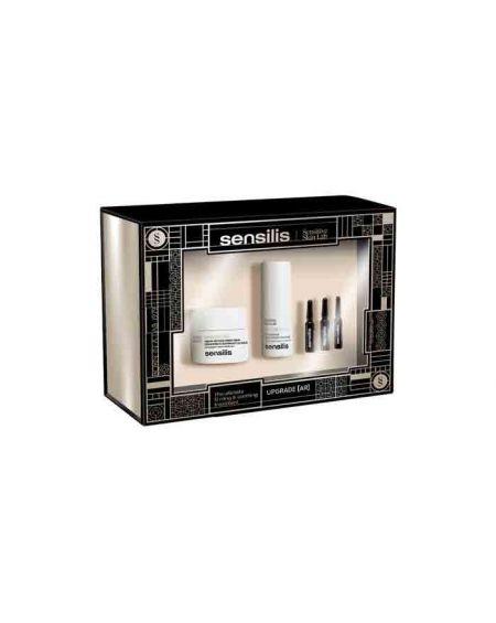 Sensilis Pack Upgrade crema AR 50 ml + contorno de ojos 15 ml + 3 ampollas