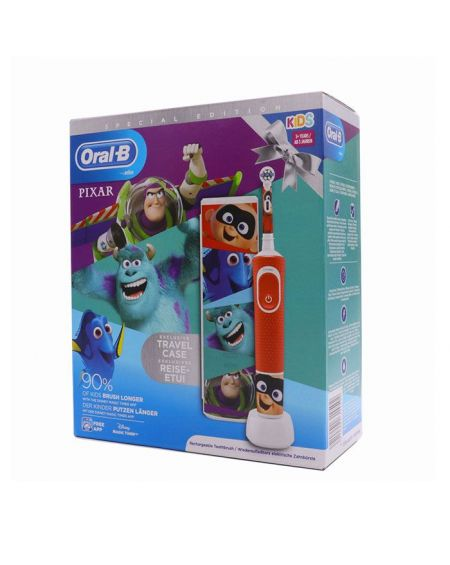 Cepillo Dental Eléctrico Infantil Pixar+3 Años suave. (neceser de regalo)