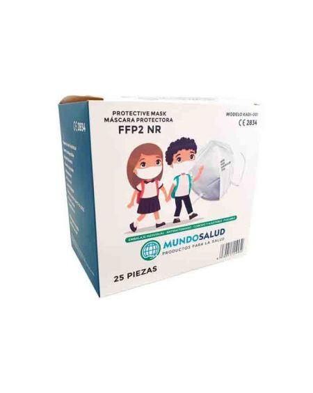 Mascarilla FFP2 Infantil Mundosalud Caja 25 unidades