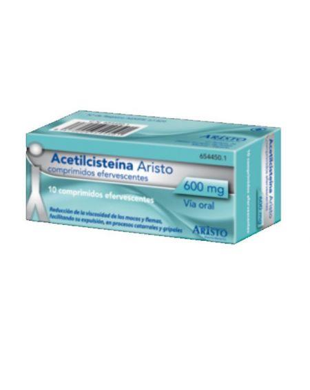 Acitilcesteína Aristo 600 mg comprimidos efervescentes
