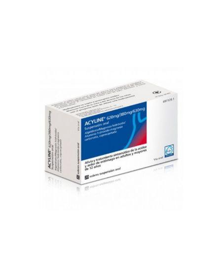 Acyline 620 mg/380 mg/630 mg Suspensión oral 10 ml