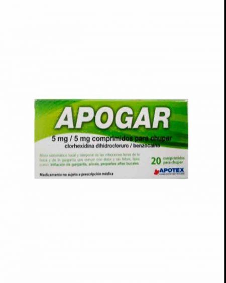 Apogar 5 mg /5 mg 20 comprimidos para chupar