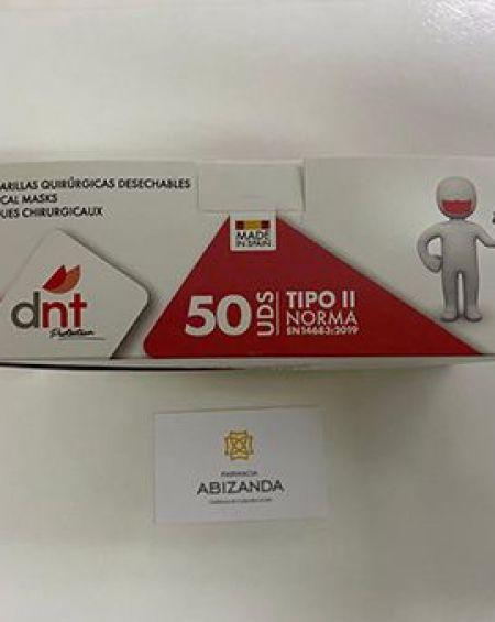Mascarilla quirúrgica en blanco, caja 50 uds Homologada CE