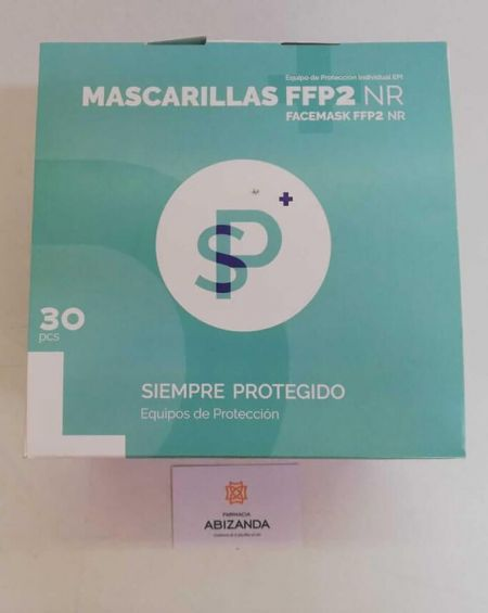 Mascarillas FFP2 Blancas NR ESPAÑOLAS 30 U