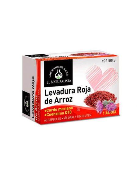 Levadura de Arroz Rojo el Naturalista 60 cápsulas