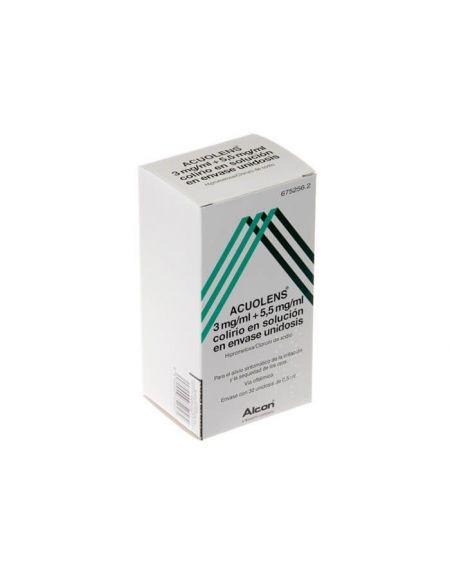 ACUOLENS 3 mg/ml + 5,5 mg/ml COLIRIO EN SOLUCION EN ENVASE UNIDOSIS