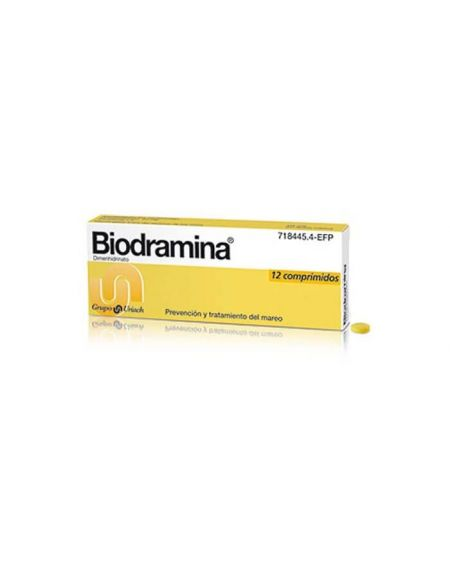 Biodramina 50 gr 12 comprimidos