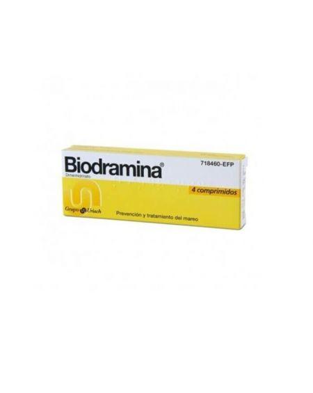 Biodramina 50 gr 4 comprimidos