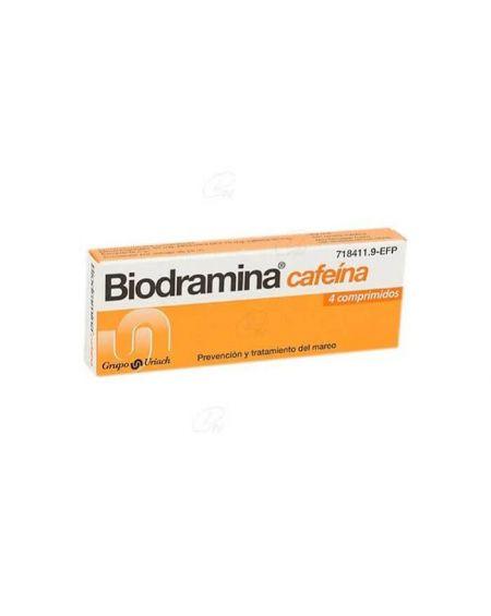Biodramina 50 gr con cafeína 4 comprimidos