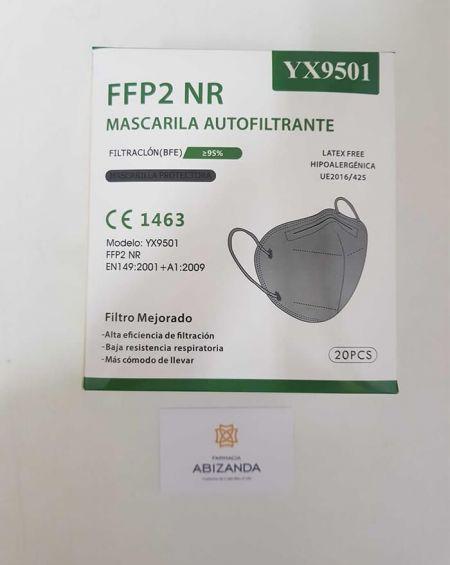 Mascarilla FFP2 Grises Caja 20 unidades