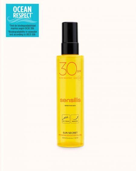 Sensilis Sun secret aceite corporal protector con activador del bronceado FPS 30