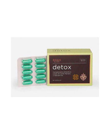 Goah Clinic Detox nutricosmética natural depurativo mejora la función hepatica y el estreñimiento