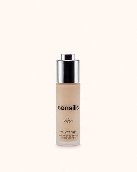 Sensilis Velvet Skin base de maquillaje antiedad sérum facial Tono 02 Noix