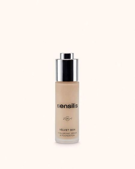 Sensilis Velvet Skin base de maquillaje antiedad sérum hialuronico Tono 03 Miel
