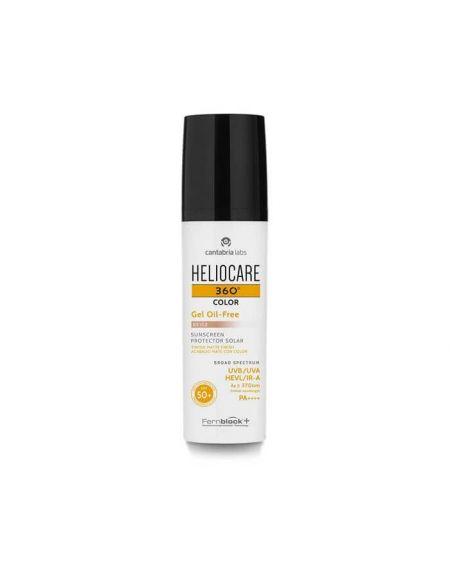HELIOCARE 360º SPF 50 COLOR FLUIDO GEL OIL FREE PROTECTOR SOLAR facial con color pieles clrasBEIGE 50 ML