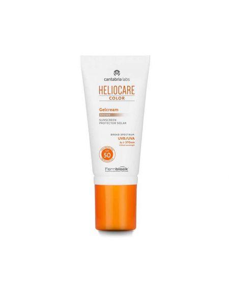 Heliocare Color Gel Crema SPF 50 Brown proteccion solar facial con color para piel morena