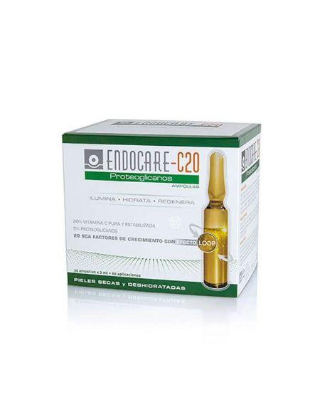 Endocare Radiance C20 Proteoglicanos ampollas con vitamina C pura, ilumina y regenera la piel del rostro
