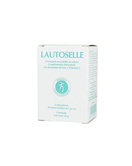 Bromatech Lautoselle 20 sobres con vitamina C mejora la salud de la piel, encias y dientes