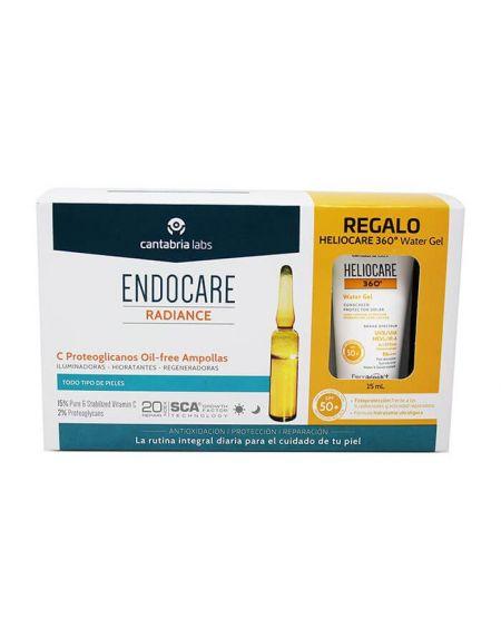 Endocare C Proteoglicanos Oil Free 30 ampollas acción antioxidante e iluminadora