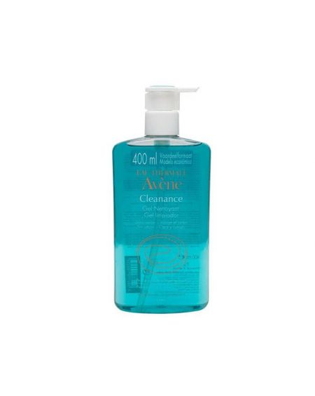 Avène Cleanance gel limpiador 400ml limpiador facial para pieles grasas o con acné tamaño grande