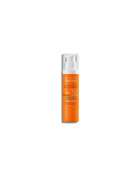 AVENE CLEANANCE SPF 50+ CREMA MUY ALTA PROTECCION solar facial  COLOR para pieles sensibles con rosacea o manchas
