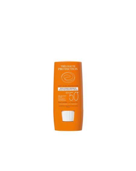 AVENE SPF 50+ STICK ZONAS SENSIBLES Labios nariz, orejas, manchas, cicatrices, resistente al agua. Stick protección solar facial