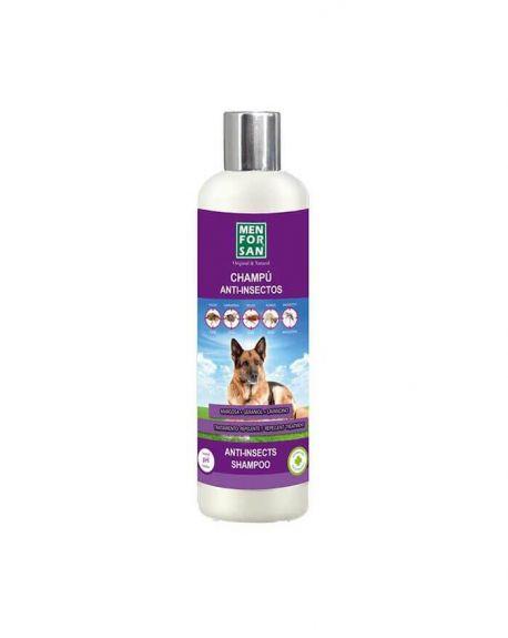 El champú antiparasitario repelente Menforsan para perros acaba con parásitos como las pulgas, garrapatas y chinches.