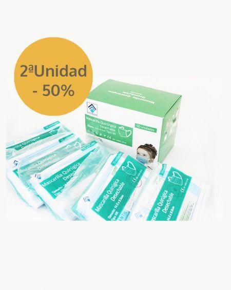Mascarilla quirúrgica Infantiles, caja 50 uds Homologada CE rebajadas 50% la segunda unidad