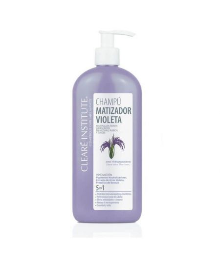 Cleare Institute Champú Matizador Violeta 400 ml para pelo blanco