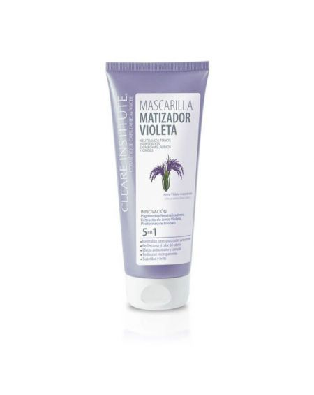 Cleare Institute Mascarilla Capilar Matizadora Violeta 200 ml para pelo canoso