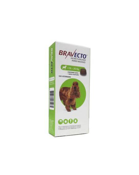 Bravecto Para Perros medianos 500 mg 1 comp. masticables de bayer