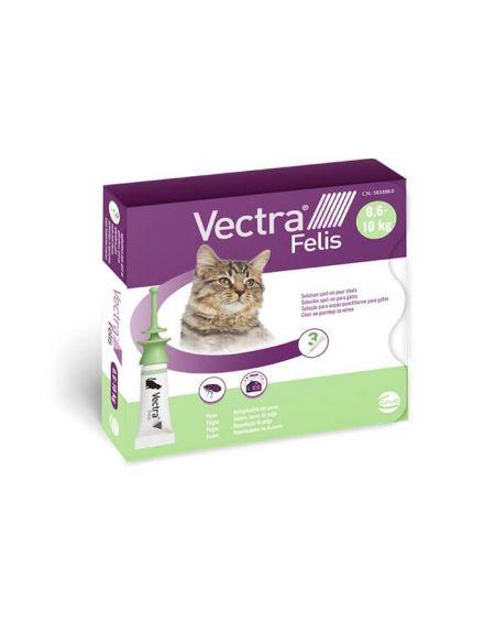 Vectra Felis Solucion Spot On 3 pipetas 0,9 ml para gatos