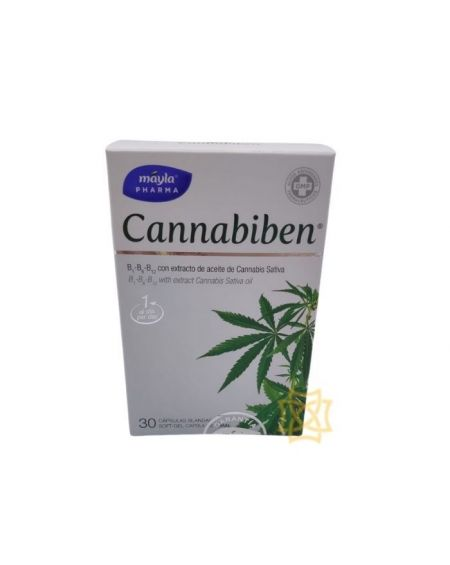 Cannabiben 30 cápsulas con cannabis sativa