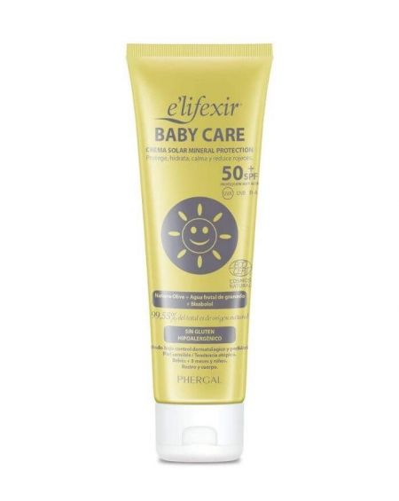 Elifexir Baby Care Crema solar Mineral SPF50+ 100 ML Rostro y Cuerpo