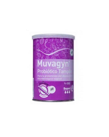 Muvagyn Probiótico Tampón Vaginal  con Aplicador Super 9 Udes