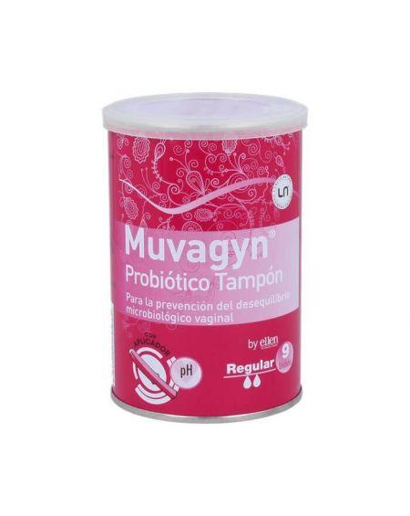 Muvagyn Probiótico Tampón Vaginal  con Aplicador Regular 9 Udes