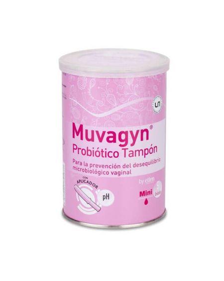 Muvagyn Probiótico Tampón Vaginal  con Aplicador mini 9 Unidades