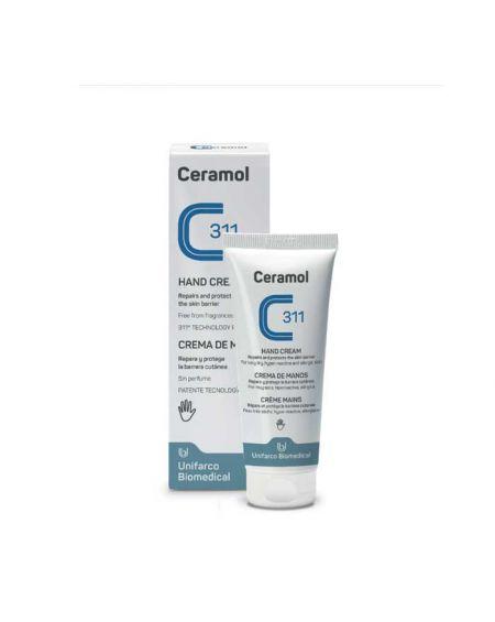 Ceramol Crema de manos 100 ml para pieles dañadas, secas, atópicas