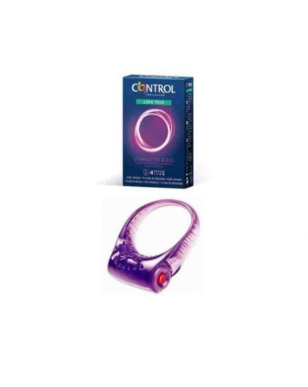 Juguete sexual dildo Control anillo vibrador