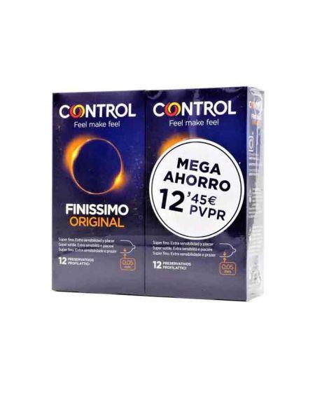 Control Pack ahorro Finissimo 2 cajas de preservativos 12 uds