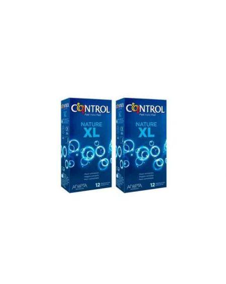 Control pack ahorro preservativos Adapta Nature XL 12 uds x 2