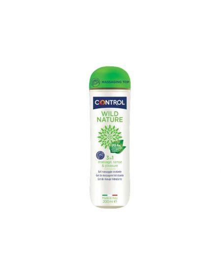 Control Wild Nature 3 en 1 Gel de masaje hidratante, lubricante y compatible con el condón