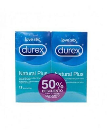 Durex Natural Plus preservativos Duplo 2x12 unidades