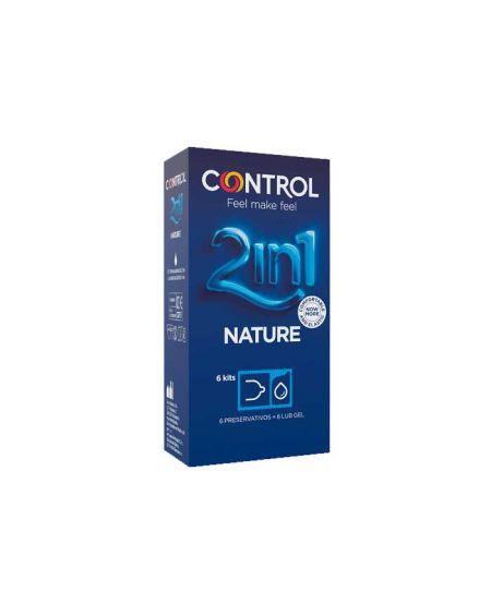 Control 2in1 Nature preservativos más lubricante