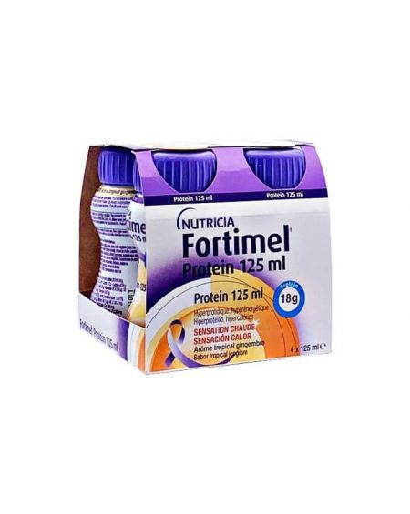 Fortimel Protein sabor tropical 4 botellas x 125 ml