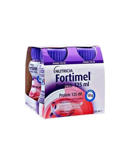 Fortimel Protein sabor frutos rojos 4 botellas x 125 ml