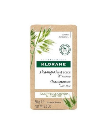 Klorane Champú Sólido a la Avena de cultivos Bio 80 gr